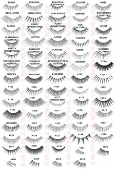 68b41098a83 Fake eyelashes open up your eyes and look amazing. Go for subtle or  over-the-top Complete Ardell Lash styles chart.