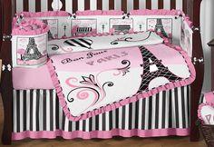 paris baby crib bedding | Bon Jour Paris Collection