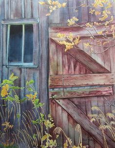 """The story behind this painting is almost as good as the painting itself. It was sent to us by Randi Mackey. The title of this painting is """"The Original Man Cave"""". She says that her father and grandfather would hide in this shed to get out of the chores that were assigned to them. It was painted on Arches 260 lb. watercolor paper with a combination of Holbein, American Journey & Winsor & Newton artists' watercolors. Randi, thank you for sharing your painting. #watercolorpainting #artwork"""