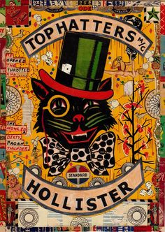 Posts about drawing collage written by Tony Fitzpatrick Biker Clubs, Motorcycle Clubs, Tony Fitzpatrick, Biker Patches, World Of Color, Cute Illustration, Collage Art, Collages, Vintage Advertisements