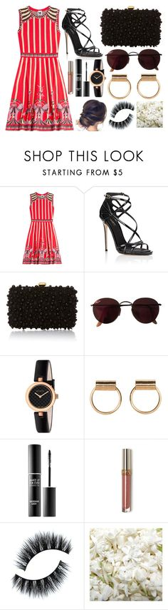 """Untitled #1539"" by jem0kingston ❤ liked on Polyvore featuring M Missoni, Dolce&Gabbana, Elie Saab, Ray-Ban, Gucci, MAKE UP FOR EVER and OneSelf"