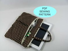 Sewing Patterns iPad Bag. Definitely can make one of these for my Nook