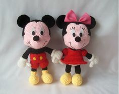 Tutorial Amigurumi Mickey Mouse : Free crochet pattern for minnie and micky mouse by canal crochet