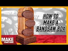 Woodworking Box, Easy Woodworking Projects, Diy Wood Projects, Projects To Try, Creative Inventions, Bandsaw Box, Youtube, Simple Wood Projects, Simple Woodworking Projects