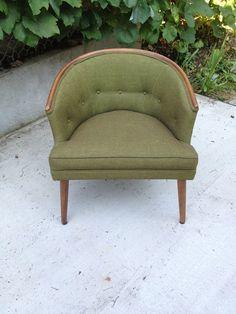 Vintage Teak Danish Easy Chair Lounge Barrel Chair Pearsal Near Mint Original Mid-Century Modern BEAUTY. $749.00, via Etsy.