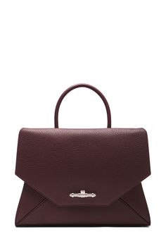 GIVENCHY | Medium Obsedia Top Handle Bag in Oxblood