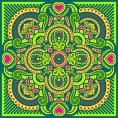 Mandala # Amor de Selva by wachuma, via Flickr~~♡~~