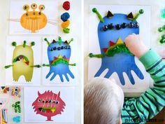 Шаблоны для лепки «Монстры» | Всё для развития ребенка