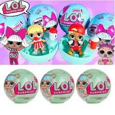 Authentic Lol Surprise Doll Series 1 Excellent In Cushion Effect Dashing 3pcs 3 Balls / Dolls