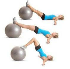 stability ball hip extension leg curl