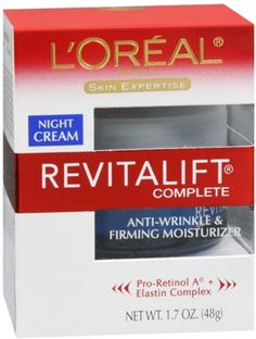 L'Oreal Dermo-Expertise Advanced RevitaLift Night Cream 1.70 oz (Pack of 4) ** Read more reviews of the product by visiting the link on the image.