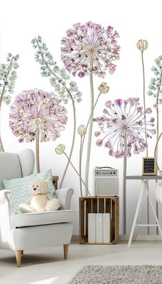 Transform your living room with this beautiful wall mural from custom creators, Wallsauce.com