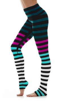 The Kristin Stipe is named after yoga expert and children's yoga advocate Kristin McGee. K-DEER Leggings are one of a kind - in EVERY way. K Deer Leggings, Funky Leggings, Striped Leggings, Women's Leggings, Tights, Childrens Yoga, Gym Clothes Women, Yoga Pants Outfit, Sporty Girls
