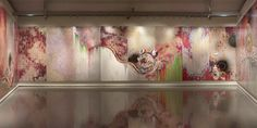 "Takashi Murakami, ""727-272 The Emergence of God at the Reversal of Fate""   Entire room view"