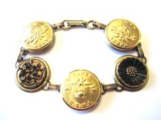 WEST POINT cadet antique button bracelet. Show support for your cadet, soldier!