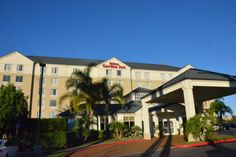 The Hilton Garden Inn is located near Harbor Boulevard and Chapman Avenue.  There are several sit-down restaurant options at that corner, as well as a Target store.  It's too far to walk to the Disneyland Resort, but Anaheim Resort Transportation picks up nearby.