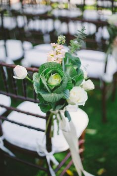 Organic chair decor: http://www.stylemepretty.com/little-black-book-blog/2014/08/11/intimate-rustic-garden-wedding-at-rengstorff-house/ | Photography: Closer to Love - http://closertoloveblog.com/