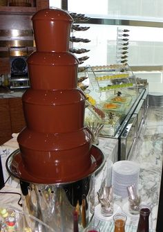 Forgot to mention the chocolate fountain.