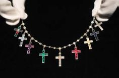 Wallace Simpson marriage bracelet, cross charms....Cartier...