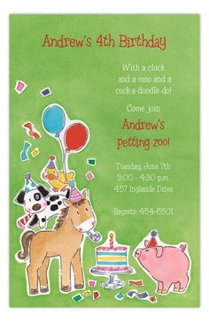 #PicturePerfect #Barnyard Party Invitation : Animals Party Invitations #Kids Invitations