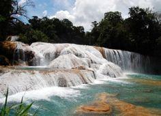 Cascadas de agua azul - Chiapas