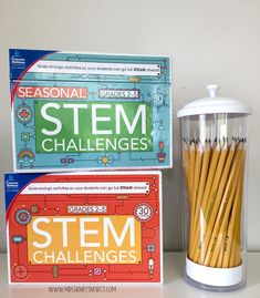 Easy STEM challenges!! Love these low prep cards!