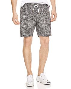 In an eye-catching Classic Feather Dot print in quick-drying cotton, these go-anywhere drawstring shorts from Barney Cools can totally hang in.