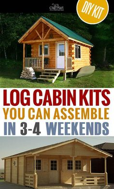 Small Log Cabin House Plans Best Of Tiny House Plans and Cabins Prefabs Kits Diy Plans Small Log Cabin Kits, Log Cabin House Plans, Tiny Log Cabins, Tiny House Cabin, Log Cabin Homes, Small House Plans, Small Cabins, Mountain Cabins, Cabin Plans With Loft