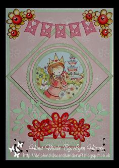 Delphinoid's Cards and Craft: A5 Size Card - Princess Garden