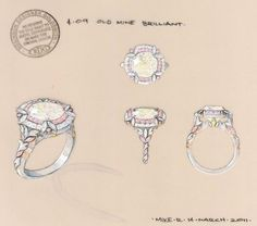Double halo diamond ring rendering by Robinson Designer Goldsmith