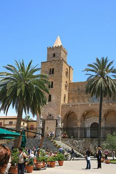In the Piazza - Cefalu, Sicily