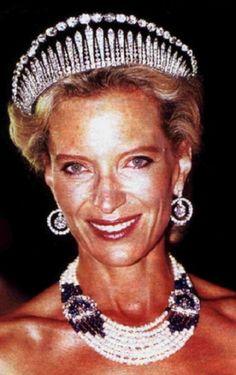 Princess Michael of Kent wearing her fringe tiara.