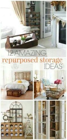 12 repurposed storage ideas