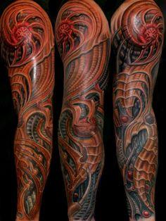 Tattoo-Foto:  Freehand Biomechanic Sleeve