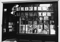 "Record store ""Mélodies massacre"" shop window (now disappeared), Rouen, France, november 1974"