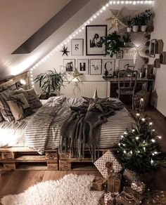 Home Decoration Hall .Home Decoration Hall Room Ideas Bedroom, Home Decor Bedroom, Cool Bedroom Ideas, Bedroom Table, Bedroom Rustic, Loft Bed Room Ideas, Attic Bedroom Ideas For Teens, Modern Victorian Bedroom, Bed Ideas