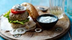 BBC - Food - Recipes : Spiced lamb burgers with herbed yoghurt