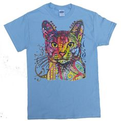 Technocolor Kitty Cat T-shirt by Animal by AnimalTshirtShop