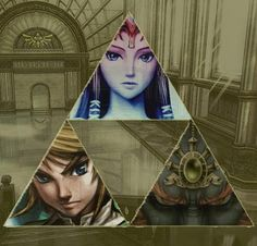 First there's link and zelda, being all awesome....and then there's Gandondorf staring into your soul