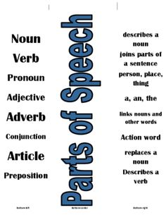 Parts of Speech Match Up Cards from Tales of a Traveling Teacher on TeachersNotebook.com -  (9 pages)  - This set of cards gives students practice with the 8 main parts of speech (noun, verb, pronoun, adjective, adverb, preposition, article, conjunction).