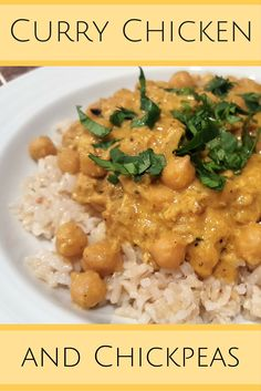 Try this delicious recipe for curry chicken & chickpeas! It can very easily be made vegetarian and it's great served over rice and garnished with cilantro!