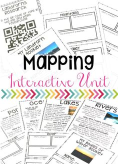 Geography activities and lessons for landforms, bodies of water, and maps! This is a full unit including research, hands-on activities, and fun!