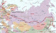 Trans-Siberian railroad, Moscow-Beijing. Omg, that's so on my bucket list!!!!!!!