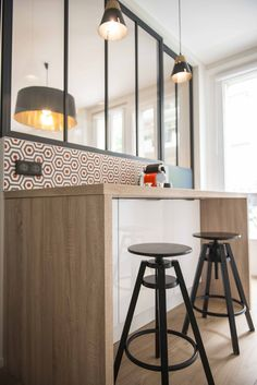 Carreaux de ciment - Cement tiles Motif Lunatic Projet orchestré par Cocottes Studio