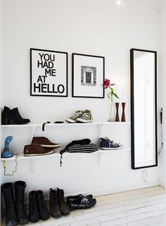 you had me at hello Hallway Storage, Storage Spaces, Scandinavian Interiors, Luxury Flooring, Thought Bubbles, Home Renovation, Space Saving, Inspiration, Posters