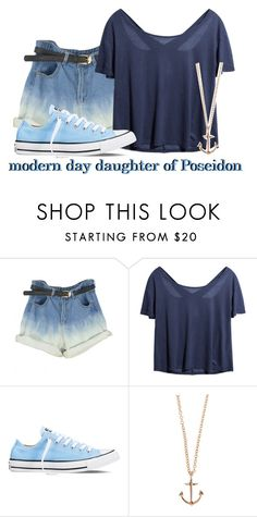 """""""// modern day daughter of poseidon //"""" by ravenclawangel ❤ liked on Polyvore featuring Converse, Minor Obsessions, modern and mymoderndaylife"""