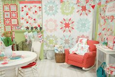 I just got the pattern for Swoon by Camille Roskelley. She is one of my favorite Moda designers. Swoon is the quilt with the large stars. She has a new fabric line coming out in Spring.