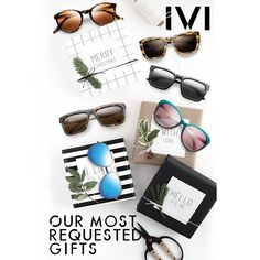 Our most requested gifts. Hello It, Gift Guide, Merry Christmas, Sunglasses, Womens Fashion, Gifts, Style, Merry Little Christmas, Swag