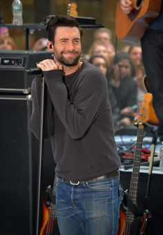 adam levine  When He Smiled Adorably on the Today Show