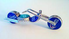 Bud Light bottle cap bike.